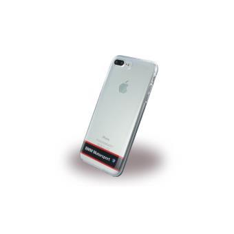 Coque iPhone 7 Plus BMW Motorsport Silicone transparent Noir