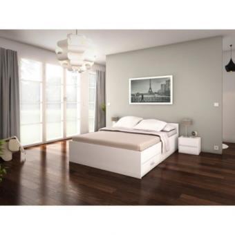 pop lit adulte 160x200 cm blanc achat prix fnac - Lit Adulte 160x200