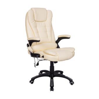 fauteuil de bureau cuir beige massant chauffant achat prix fnac. Black Bedroom Furniture Sets. Home Design Ideas