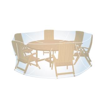 Housse de protection transparente pour salon de jardin rond taille L ...