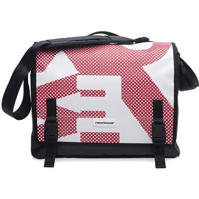 Sacoche / sac à bandoulière New Looxs Postino Office Rouge Blanc - 14 litres