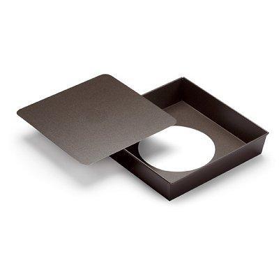 Gobel - Moule métal anti-adhérent - Manqué carré fond mobile 24 cm