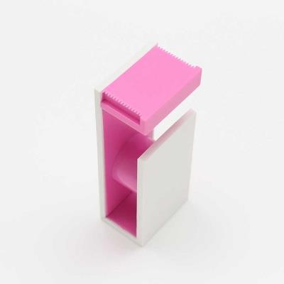 Dérouleur magnétique pour Masking Tape - rose & blanc
