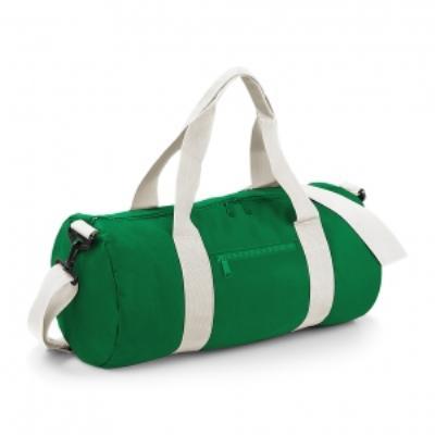 Sac de voyage toile - 20 L - Varsity Barrel Bag - BG140 - vert kelly