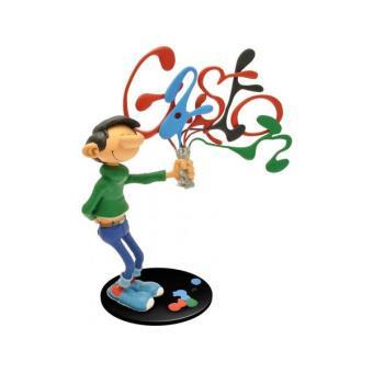 Figurine Collectoys Gaston Lagaffe Et Son Tube De Peinture Plastoy