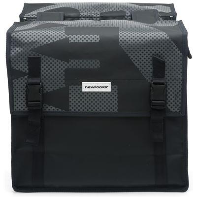 Sac double NEW LOOXS Bisonyl Basic imperméable Noir Gris - 46 litres.