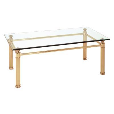 Table basse en tube d'acier Coloris Doré, Dim : L110 x P60 x H43 cm -PEGANE-