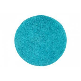 tapis de bain rond bleu turquoise 60x60 cm achat prix. Black Bedroom Furniture Sets. Home Design Ideas
