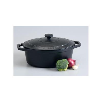 Cocotte en fonte ovale 31cm Chasseur - Noire
