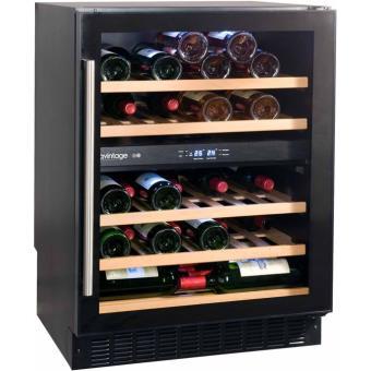 cave vin de service 2 temp 50 bouteilles noir avintage aci avi575e encastrable. Black Bedroom Furniture Sets. Home Design Ideas