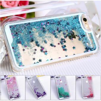 BPFY Coque Iphone 5 5S SE Paillettes et Etoiles Liquide BLEU