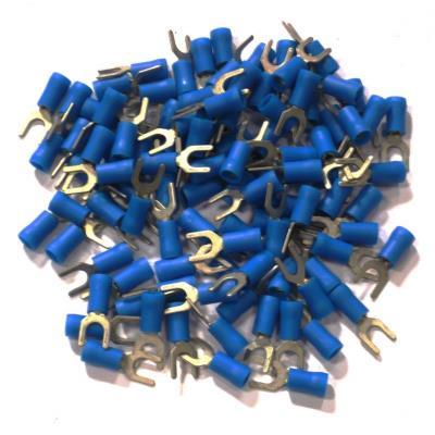 Cosses Electriques Fourche De 5 Bleues Sachet De 100 Cosses