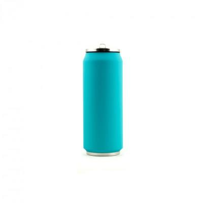 Yoko Design - Canette Isotherme 500ml Bleu turquoise Soft touch