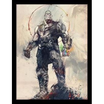 MARVEL - Framed 30X40 Print - Avengers: Infinity War - Thanos Sketch