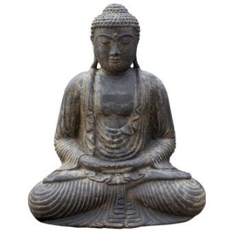 Statue Bouddha Japonais 30 Cm Pierre Reconstituee Antique Sdm