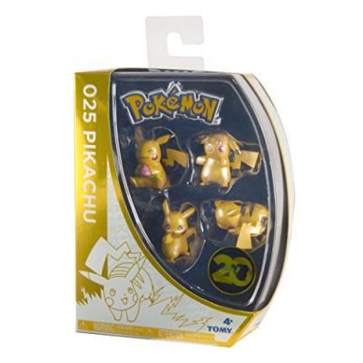 Tomy - t18726 - coffret exclusif - 20 ans - 4 figurines de pikachu