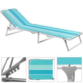 chaise longue pliable bleu ray transat bain de soleil jardin plage mobilier de jardin achat prix fnac - Transat De Plage Pliable