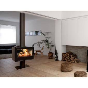 termofoc po le bois double face sl290df cache tuyau. Black Bedroom Furniture Sets. Home Design Ideas