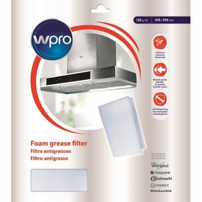 Filtres de hotte Wpro Filtre à graisses et à charbon 2 en 1 150g/m² (UGF 016)