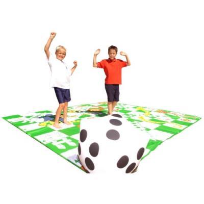 Garden Games Ltd - Jeu de l'échelle géant - Snakes and Ladders - 3 x 3 m, plateau en PVC et dé gonflable - Langue : anglais