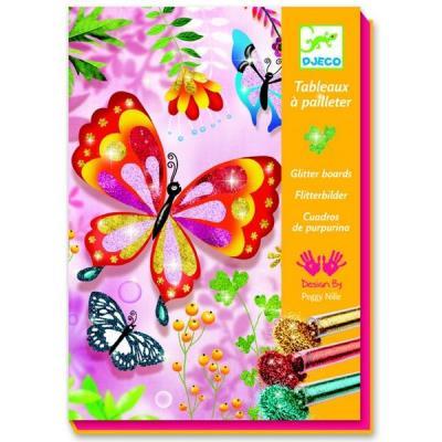 Kit de loisir créatif Dessins à paillettes Djeco Petites bêtes Enfant Fille 7+