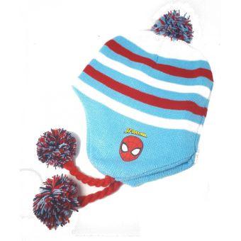 grande vente 5d61e ea00c Spiderman Bonnet péruvien Garçon - Bleu