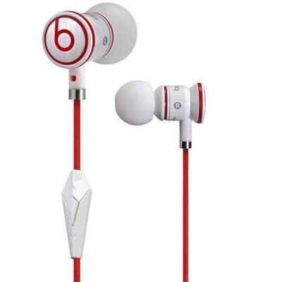 Monster IBeats by Dr.Dre pour Iphone Ecouteurscasque intra auriculaires + 5 embouts différents + pochette de rangement Coloris Blanc