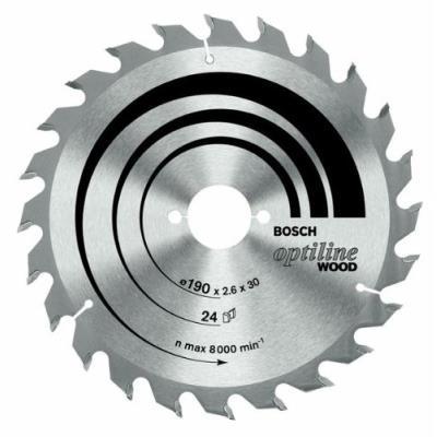 Bosch 2608640817 Lame De Scie Circulaire Optiline Wood 184 X 16 X 2,6 Mm, 24, 1 Pièce