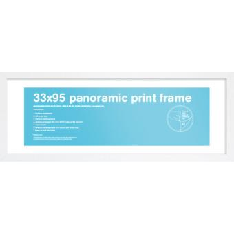 cadre pour affiches blanc panoramique 33x95cm eton achat prix fnac. Black Bedroom Furniture Sets. Home Design Ideas