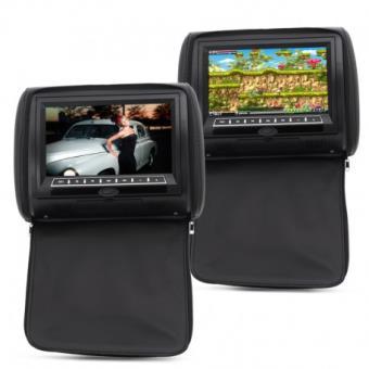 appui tete video 9 pouces pour voiture avec ecran et. Black Bedroom Furniture Sets. Home Design Ideas