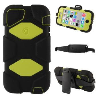 Iphone 5C Coque Houe De Protection Combinaison Plastique Silicone avec Support PROTECTION MAXIMUM