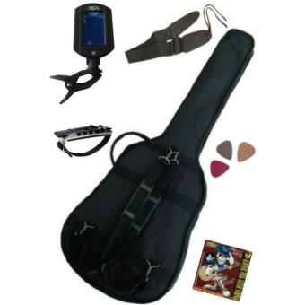 PACK 6 Accessoires Guitare Folk 4/4 (Housse, accordeur ...
