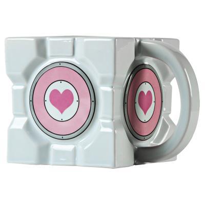 Portal 2 mug Companion Cube