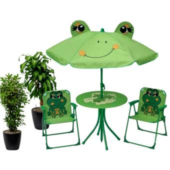 ensemble salon de jardin enfants table parasol 2. Black Bedroom Furniture Sets. Home Design Ideas