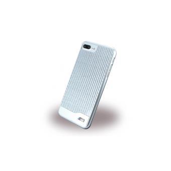 Coque iPhone 7 Plus BMW M-Sport Carbon Fiber Argent