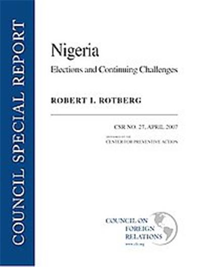 Nigeria, Council Special Report, April 2007