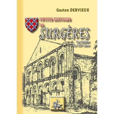 Petite Histoire De Surgères, Des Origines Au Xixe Siècle