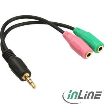 Cable Adaptateur Audio - Jack 3,5mm (M) 4 points vers 2x 3.5mm (F) - 99302I  - 15cm - Accessoire Audio - Achat   prix   fnac 930cb1d241cc