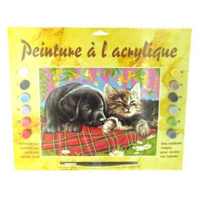 Oz International - Peinture au numéro - Débutants : Comme chient et chat