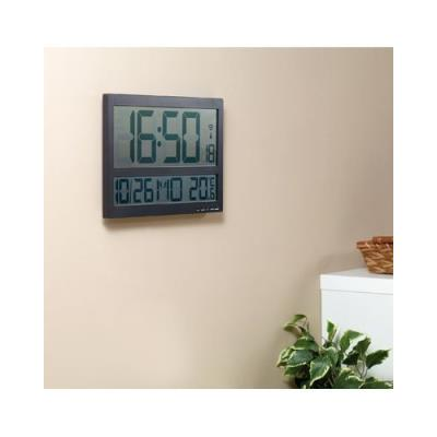 horloge murale radio pilotée avec thermomètre intérieur xxl