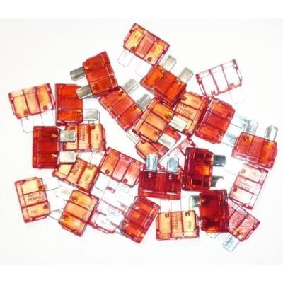 Fusibles Enfichables 10 Ampères Sachet De 25 Fusibles