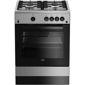 cuisiniere gaz beko fsg 62010 fx achat prix fnac. Black Bedroom Furniture Sets. Home Design Ideas