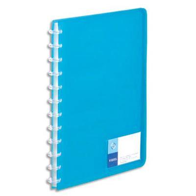 Lot de 12 Protège-documents MAXI GEODE en polypro translucide 7/10. 60 vues, 30 pochettes. Coloris bleu