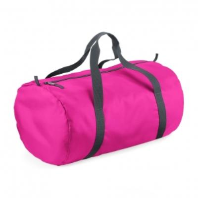 Sac de voyage toile ultra léger pliant - Packaway Barrel Bag - BG150 - rose fuschia