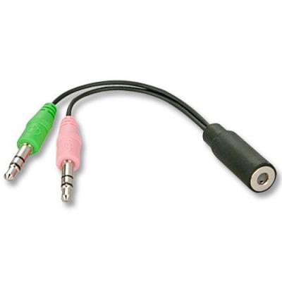 """CABLING® cable splitter - jack 3,5 mm - 1 """"femelle"""" vers 2 """"mâles"""" (1 mic + 1 he"""