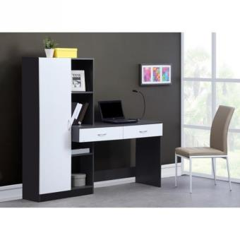 optim bureau 160 cm gris achat prix fnac. Black Bedroom Furniture Sets. Home Design Ideas