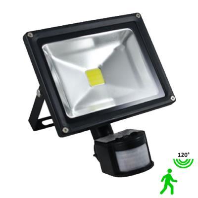 Projecteur led 20 watt (eq. 200 watt) avec détecteur - Couleur eclairage - Blanc neutre