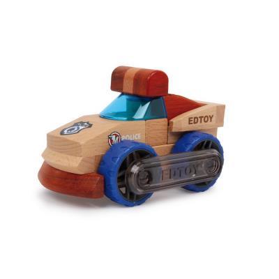 Petite voiture de police en bois à construire Thomas