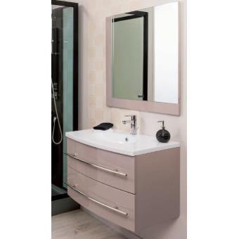 aqua meuble salle de bain taupe suspendre 80 cm lea installations salles de bain achat prix fnac