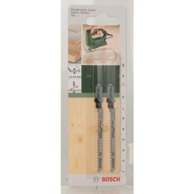 Bosch 2609256723 Hcs - T 101 Ao Lame De Scie Sauteuse Pour Coupe Courbe Epaisseur 1,5-15 Mm Longueur 82 Mm